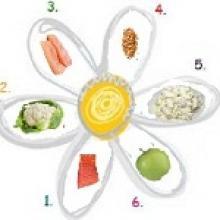 Продукты для диеты «6 лепестков»